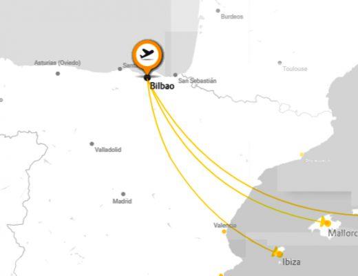 Vueling: enlaces desde Bilbao a Mallorca, Menorca e Ibiza
