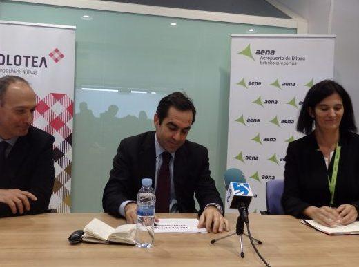 Volotea presenta sus novedades en el Aeropuerto de Bilbao