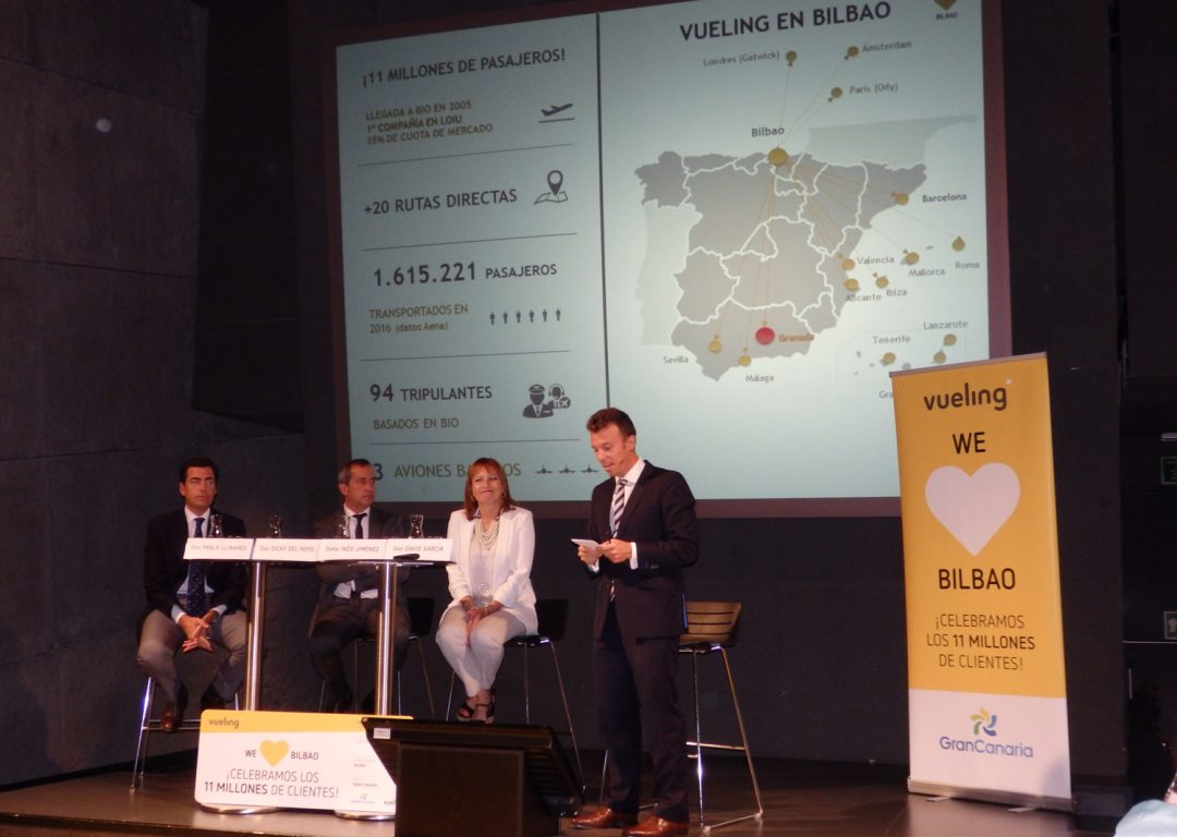 Vueling celebra sus 11 millones de pasajeros en Bilbao