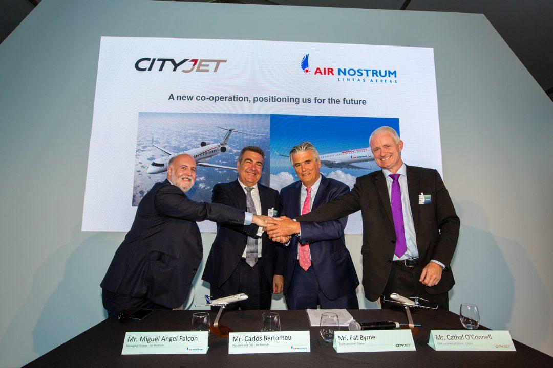 Air Nostrum y CityJet sumarán sus fuerzas para crear el mayor grupo europeo de aerolíneas regionales