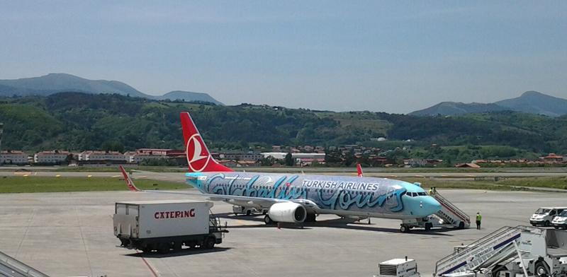 Inauguración de la ruta Bilbao estambul de Turkish en mayo de 2012